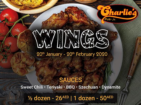 Charlies Pub Wings Promotion